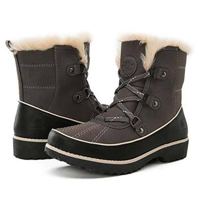 9. Global Win Women's Fur Trek Winter Boots