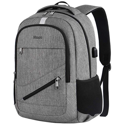 1. Mancro Travel Laptop Backpack