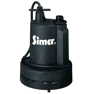 7. Simer 2305-04 Geyser ¼ HP Submersible Utility Pump