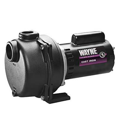 9. WAYNE WLS200 2HP Cast Iron High Volume Sprinkling Pump