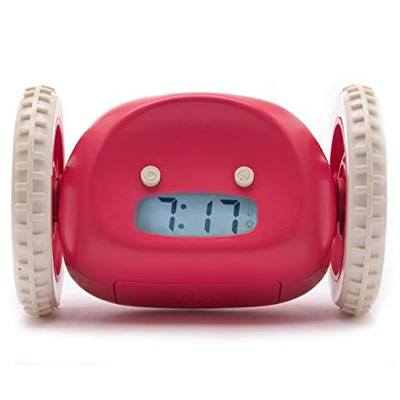 8. Clocky Raspberry Runaway Programmable Alarm Clock