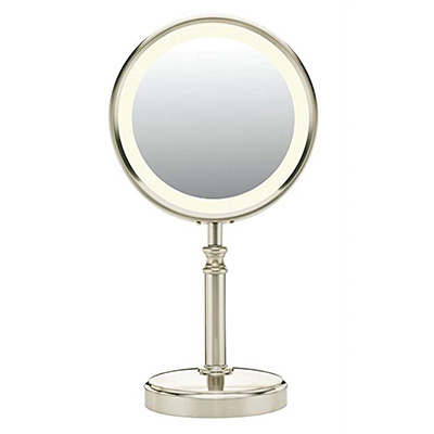 10. Conair Oval Shaped Double-sided Lighted Makeup Mirror