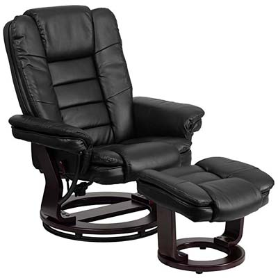 7. Flash Furniture Black Leather Chair