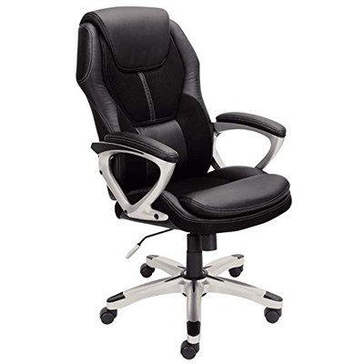 8. Serta Mesh and Faux Leather Office Chair