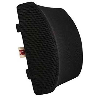 6. LoveHome Memory Foam Lumbar Support Cushion