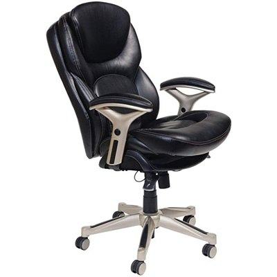 3. Serta Bonded Leather Executive Ergonomic Office Chair