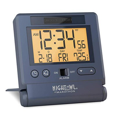 6. Marathon CL030036BL Travel Alarm Clock