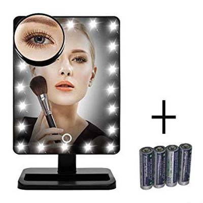 2. FLYMEI 20LED Lighted Markup Mirror