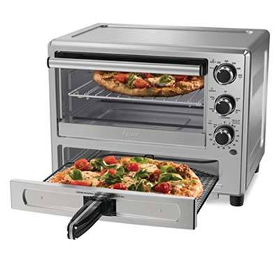 5. Oster Convection Oven with Dedicated Pizza Drawer (Model TSSTTVPZDS)