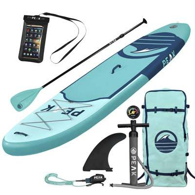 6. Peak Inflatable 10 Inch by 6 Inch All-Round Stand up Paddle Board