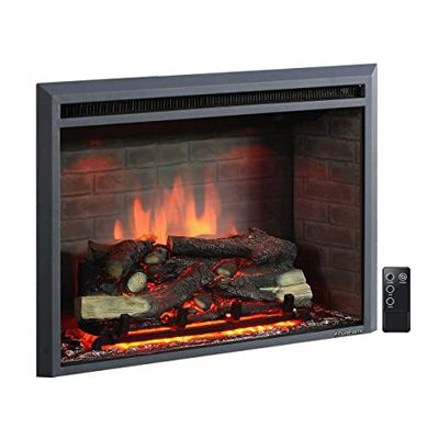1. PuraFlame 33'' 750/1500W Western Insert Electric Fireplace