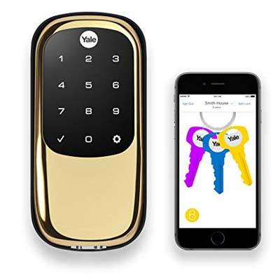 8. Yale Assure Lock with Bluetooth and Z Wave Polished Brass