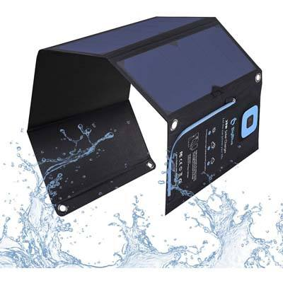 1. BigBlue 5V 28W Digital solar charger with Ammeter