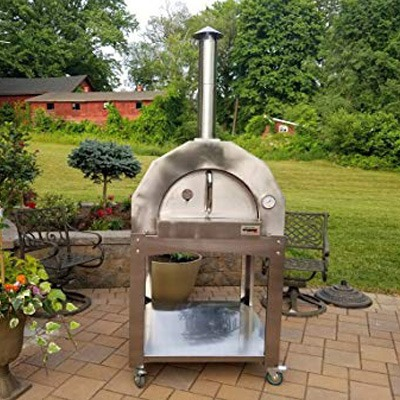 10. IlFornino Platinum Series Stainless Steel Woodfired Pizza Oven