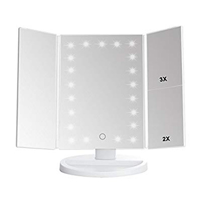 7. Lighted Tri-fold Makeup Mirror