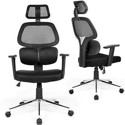 1. Coavas Mesh Adjustable Backrest Office Chair