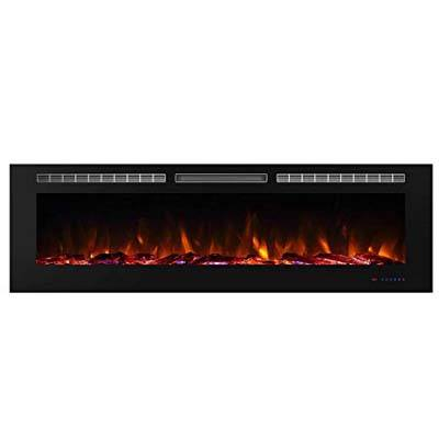 10. Valuxhome Armanni Recessed Electric Fireplace