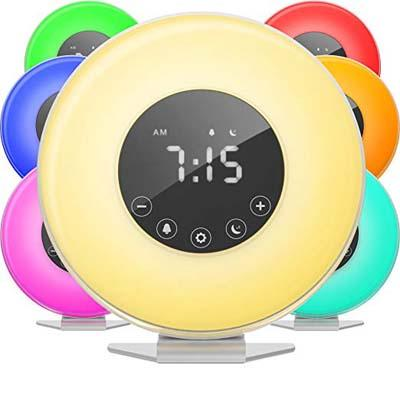 1. HomeLabs Multiple Sounds Bedroom LED Clock