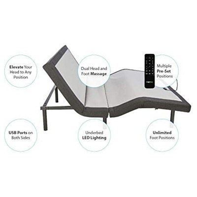 7. Ghostbed Queen Adjustable Custom Massage Bed
