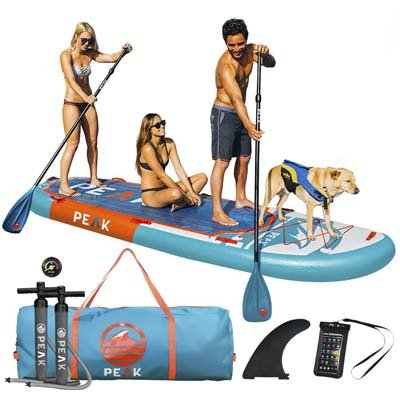 10. Peak 12-Inch Titan Royal Blue Inflatable Stand up Paddle Board