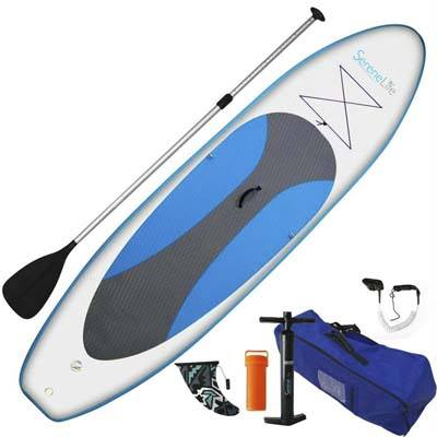1. SereneLife Inflatable Stand up Paddle board