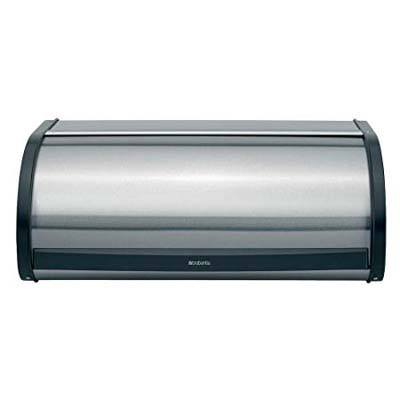 1.Brabantia Roll Top Steel Bread Box