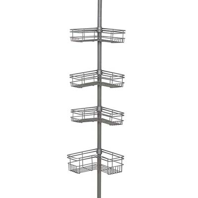10. Zenna Home 2130NN, Satin Nickel Shower Caddy
