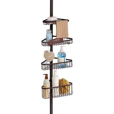 6. InterDesign Constant Tension Shower Caddy, Bronze