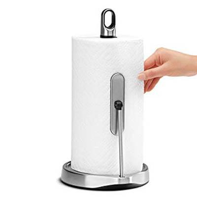 9. simplehuman Tension Arm Stainless Steel Holder
