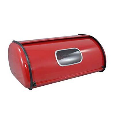 9. MyGift Modern Metal Bread Box