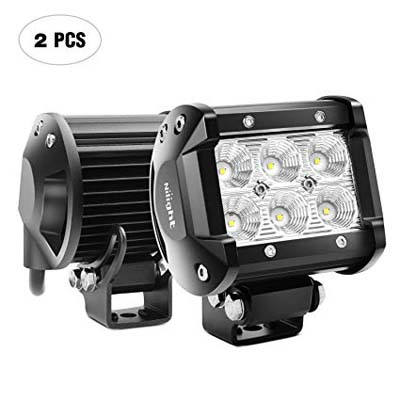 1. Nilight LED Light Bar 2PCS Flood Driving Off-road Lights
