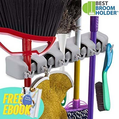 6. Best Broom Multipurpose Wall Mounted Holder with eBook