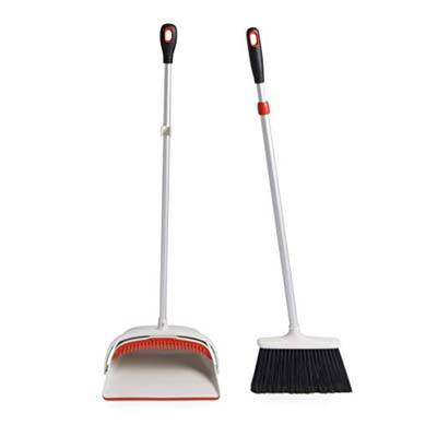 8. OXO Good Grips Sweeping Set with an Extendable Broom