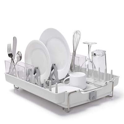 6. OXO Good Grips Stainless Steel Dish Rack