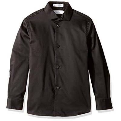 1. Calvin Klein Long Sleeve Sateen Dress Shirt