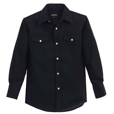 6. Gioberti Boys Solid Long Sleeve Shirt