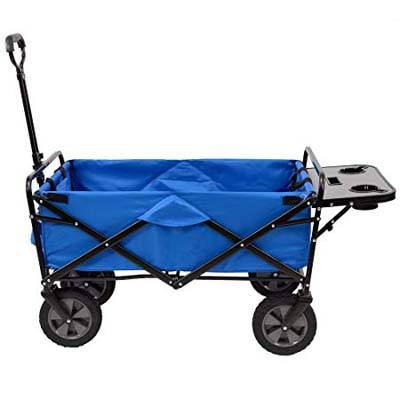 5. MacSports Collapsible utility wagon with Side table