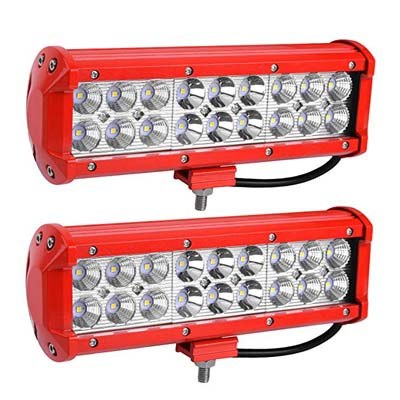 4. YITAMOTOR 2Pack RED Offroad Lights