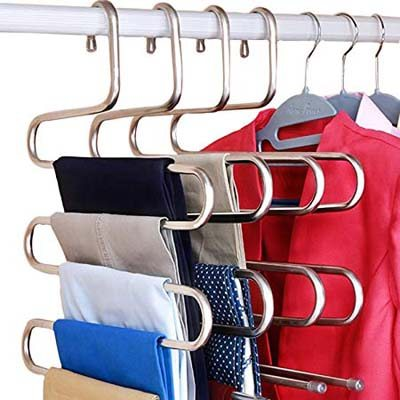 4. DOIOWN Stainless Steel S-Type Clothes Hanger