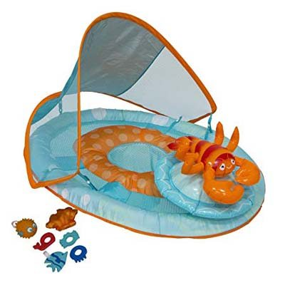 8. SwimWays Baby Spring with Canopy, Lobster