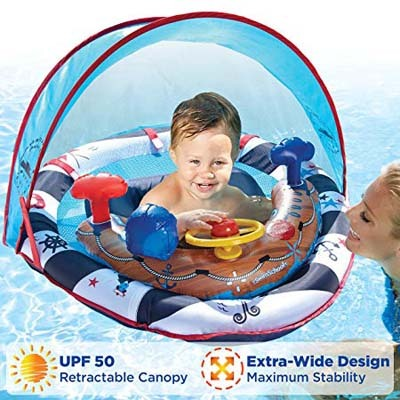 3. SwimSchool Lil' Mariner, UFP50 Inflatable Pool Float, Blue