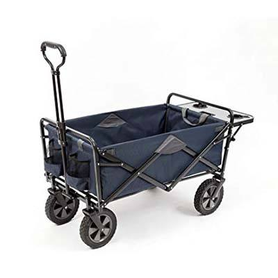 4. MacSports Collapsible Outdoor Utility Wagon With folding handle