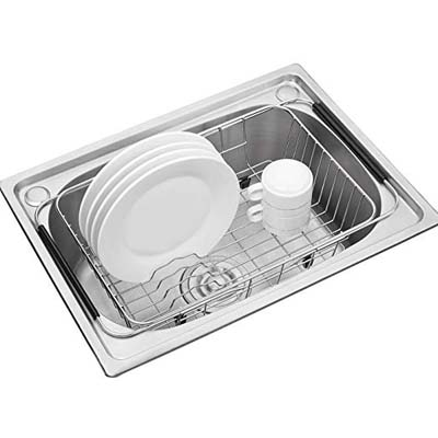 1. KESO HOME Adjustable Stainless Steel Dish Drying Rack
