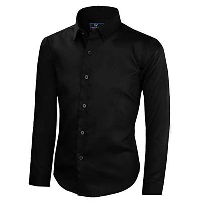 7. Black n Bianco Signature Sateen Long Sleeve Signature Dress Shirt