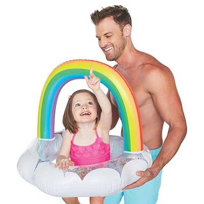 2. BigMouth Inc Lil' Happy Rainbow Pool Float