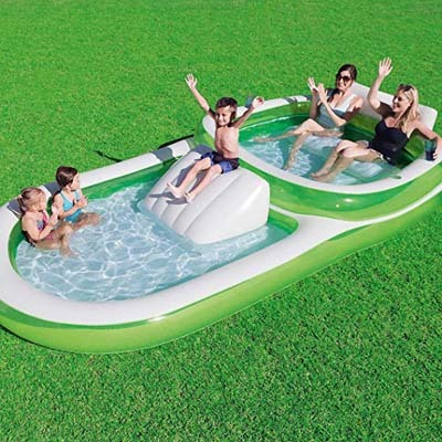 7. Bestway H2OGO Two-In-1 Wide Inflatable Outdoor Pool