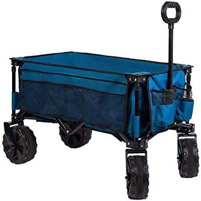 9. Timber Ridge Folding Camping Wagon with Collapsible Steel Frame