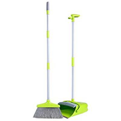 2. UTOKIA Upgraded Broom & Dustpan Combo with Long Handle