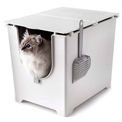 7. Modkat Flip Litter Box with Scoop and Reusable Liner