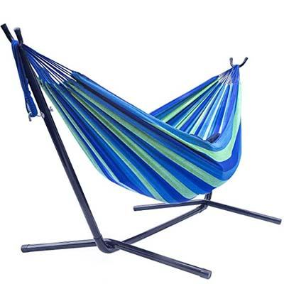 5. Sorbus Double Hammock with Steel Stand